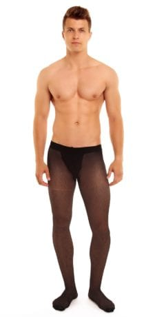 Men's Classic 20 tights 20 denier black front view full body