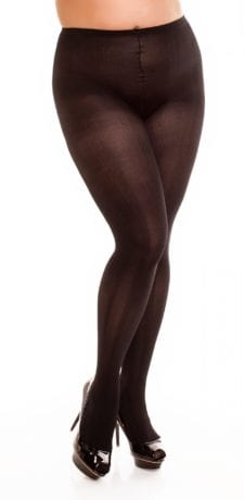 Glamory River 70 Patterned Tights 70 denier black front view half body